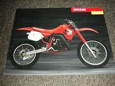 NOS HONDA CR 125 R 1988 SALES BROCHURE VINTAGE EVO ELSINORE RED ROCKET CR125R