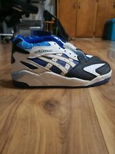 NEW Deadstock VINTAGE Mens Size 7.5 ASICS GEL Low Top Sneakers White blue Japan