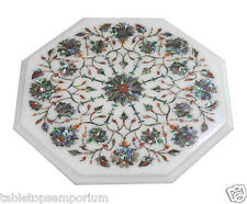 1'x1' Marble Coffee Table Top Pauashell Stone Inlay Marquetry Home Decor Art