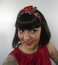 Bandeau foulard cheveux rigide cordon maléable far west cow girl pinup rouge