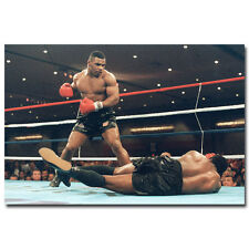 Mike Tyson Poster Art Silk Boxing Boxer Motivational Poster 13x20 in Wall Decor