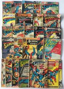 25 Superman Action Comics Neal Adams Silver Age Mixed Old Used Vintage DC Lot