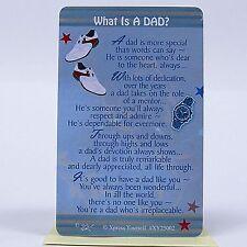 WALLET CARD WHAT IS A DAD? Keepsake Sentimental Verse Love Blue Birthday Present