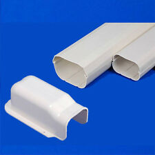 Air Conditioner Wall Cover PVC Duct Split System 100mm