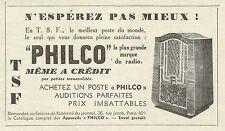 W6209 Radio PHILCO - Pubblicità 1934 - Advertising