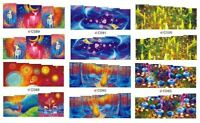 13 sets Nail art water decals transfer sticker wrap C series Rainbow C11