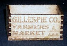 Dollhouse Miniature Gillespie County Farmer's Crate 1:12 Farm Food Store Produce