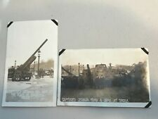 Pair WW1 RPPC Photo Postcards - Captured German Tank / Guns - Paper on Corners
