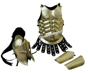 Medieval Armor 300 Spartan Helmet W/Muscle Jacket and Arm Guard  set