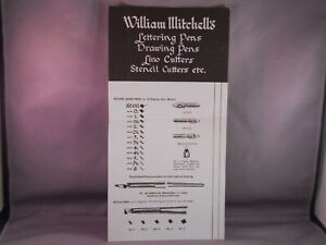 William MItchell's Vintage 4 page catalog--drawing pen nibs