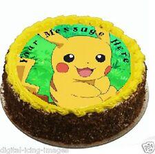 Pokemon Go Pikachu Cake topper edible image icing party Birthday REAL FONDANT