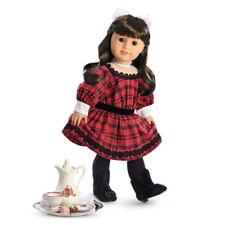 "American Girl SAMANTHA HOLIDAY SET for 18"" Dolls Teapot Dress Beforever NEW"
