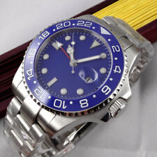 40mm Steril blue dial Sapphire glass Date Ceramic Bezel GMT automatic mens Watch