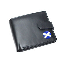 Saltaire Scottish Flag St Andrews Cross Leather Wallet Birthday Present Gift