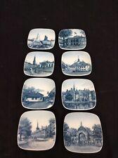 New Listing8 Miniature Plates Bing Grondahl Blue White Kjeld Bonfils Denmark Danish