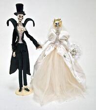 Skeleton Bride Groom Dearly Departed Wedding w FREE GIFT Katherine's 18-584460