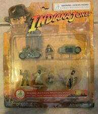 Indiana Jones Disney Park Exclusive Micro Action Motorcycle 7 pc Set