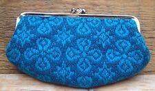Stunning Bright Blue Vintage Ladies Purse/Knitted/Frame Purse/1950's/60's/Retro