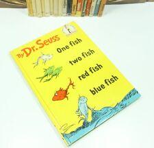 One Fish Two Fish Red Fish Blue Fish Dr. Seuss 1960 W/DJ 1st Edition B-13 N-Mint