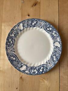 "Churchill The Georgian Collection Blue White Fruit Chintz 1  x 10"" Dinner Plate"