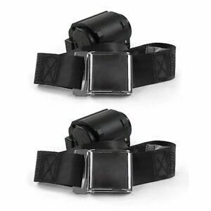 Ford 1957 - 1959 Airplane 2pt Black Retractable Bucket Seat Belt Kit - 2 Belts