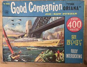 "Vintage GOOD COMPANION Jigsaw ""ORIANA"" Ship Sydney Harbour Bridge COMPLETE 400"