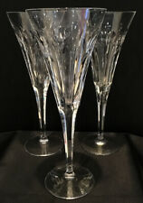 Set of 3 Waterford Crystal Millennium Champagne Flutes Love Hearts Tiny Chips