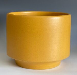 Mid-Century Modern Architectural Gainey Ceramics Art Pottery Mustard Planter