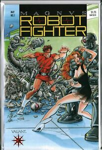 MAGNUS the ROBOT FIGHTER #1 (1991) with card Valiant NM- (9.2)