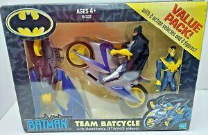 Batman Team Batcycle Figure Nightwing Set 2001 Vintage Complete