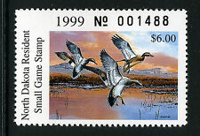 Bigjake: ND18, 1999 North Dakota State Duck Stamp, Gadwalls
