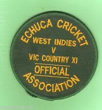 #D77. CRICKET CLOTH PATCH - WEST INDIES V VICTORIA COUNTRY, ECHUCA