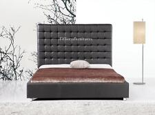 #4005 Gorgeous Modern Cal/Eastern king Size black Pu Leather bed