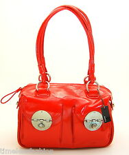 MIMCO MINI TURNLOCK ZIP TOP BAG PATENT LEATHER IN POPPY RED BNWT RRP$425