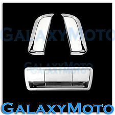 Triple Chrome 2 Rear Vertical Door Handle+Tailgate Cover for 04-13 Nissan Armada