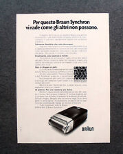 [GCG] M699 - Advertising Pubblicità - 1972 - BRAUN SYNCHRON ,BRAUN