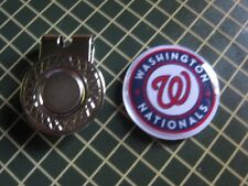 GOLF / Washington Nationals Logo Golf Ball Marker/with Magnet Hat Clip New!!