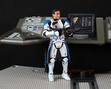 "Hasbro Figure Star Wars 1:18 Toy 3.75"" Order 66 AIRBORNE Blue Clone Trooper S188"