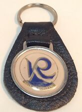Vintage Leather Promo Keychain CITY OF ROBERVAL Porte-Cle en Cuir LAC ST-JEAN
