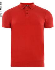 Mens Lansdown Crosshatch Pique Short Sleeve Polo Shirt Medium Red