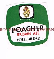 England Whitbread Poacher Brown Ale Beer label Tavern Trove