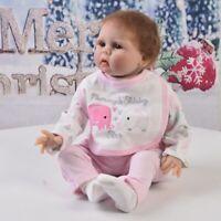 """4pcs Jumpsuit & Pants Set Pink for 22-23"""" Reborn Doll Clothes Accessories"""