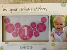 New Baby Girls Set of 12 Tiny Ideas First Year Necklace Stickers Pink