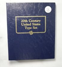Used Whitman 20th Century U.S. Type Set Empty Coin Album Book - 15 Oz. *207