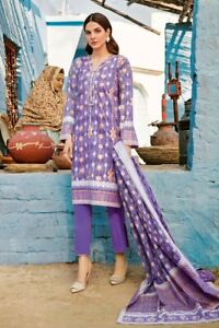 ORIGINAL GUL AHMED PRINTED LAWN SUMMER COLLECTION 3 PCS UNSTITCHED SUIT CL-803B