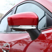 FOR 2017 2018 MAZDA3 ABS Chrome Body Side Mirror Strip Cover Trim