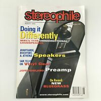 Stereophile Magazine August 2002 Bluegrass On Record Feature, Newsstand