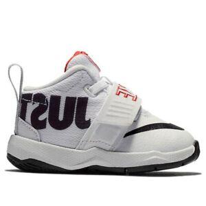 🚨 Nike Team Hustle D8 JDI (Toddler Size 8 C) White Athletic Sneaker Shoe