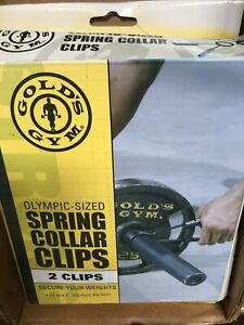 Gold's Gym 2 Olympic-Sized Spring Collar Clips