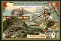 Sea Food  Lobster Shrimp Crevettes Homards c1903 Trade Ad Card